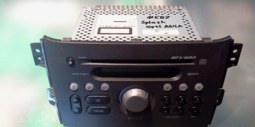 Suzuki Splash, Opel Agila B CD rádió PACR08 39101-51K00-EZR MP3/WMA Festése kopottas. 20000Ft